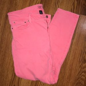 GAP Pink Skimmer Legging Jeans